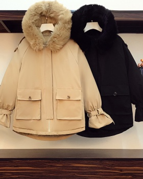 Loose winter cotton coat Korean style coat