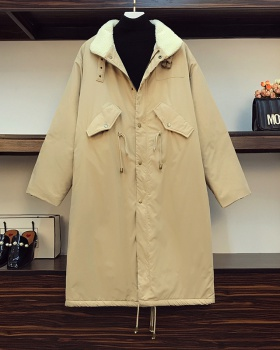 Large yard thick long winter Korean style cotton coat