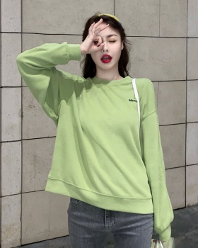 Long sleeve pullover loose hoodie Korean style girl tops