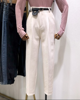 Loose corduroy long pants student straight wide leg pants