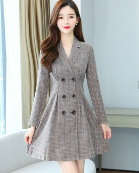 British style dress houndstooth formal dress for women
