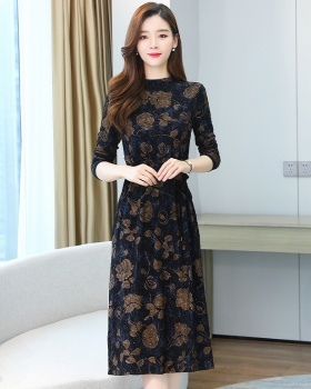 Autumn bottoming autumn and winter knitted dress for women