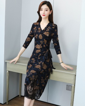 Temperament ladies large yard bottoming dress for women
