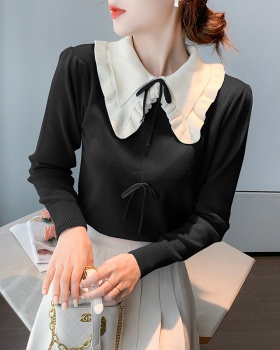 Western style bottoming shirt doll collar tops