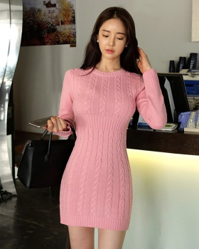 Package hip slim dress fashion sweater for women