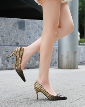 Sexy European style high-heeled large yard shoes