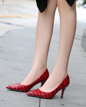 Sexy refreshing pointed European style high-heeled shoes