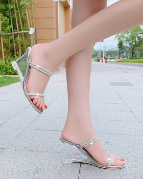Quality fashion and elegant rhinestone low sandals