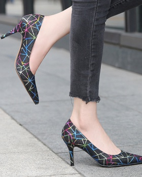 Pointed shoes large yard high-heeled shoes for women