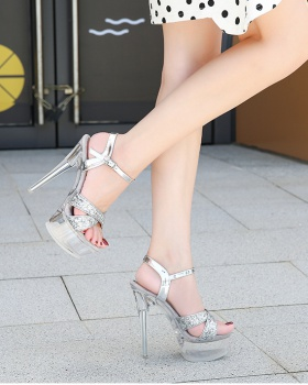 Catwalk pole dancing platform model sandals