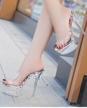 Crystal fashion summer wears outside slippers for women