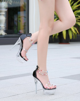 Diamond host high-heeled shoes model fine-root sandals