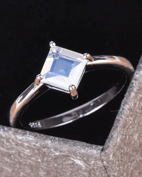 European style mosaic square classic wedding ring for women