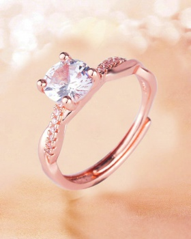 Rose gold opening ring