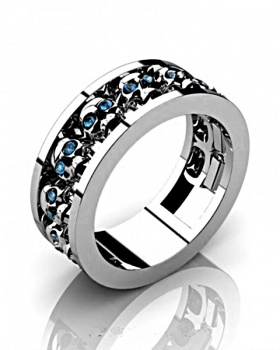 European style skull accessories retro ring
