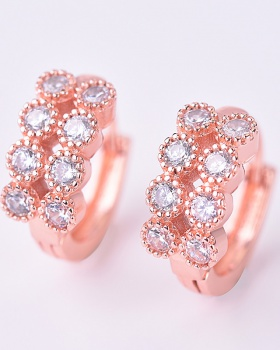 Zircon modeling earrings refinement accessories for women