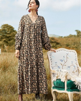 Autumn and winter long dress temperament cardigan