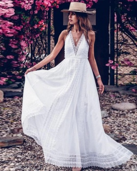 Sling sexy formal dress halter long dress for women