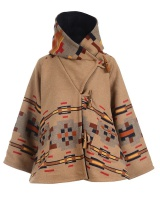 Autumn and winter overcoat hooded coat for women