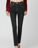 Autumn and winter pencil pants plus velvet jeans for women