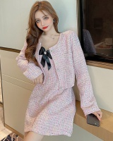 High waist fashion dress fashion and elegant coat 2pcs set