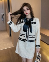 Temperament skirt fashion woolen coat 2pcs set