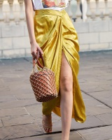 Chouzhe temperament asymmetry split fashion Thailand skirt