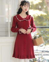 Autumn and winter sweet tender knitted sweater dress