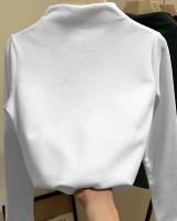 Winter half high collar pure bottoming shirt