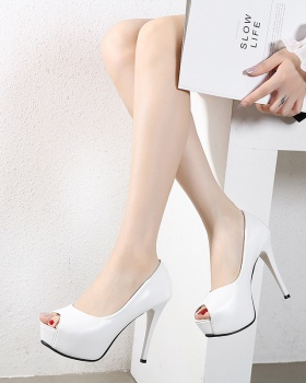 Autumn platform fish mouth high-heeled shoes