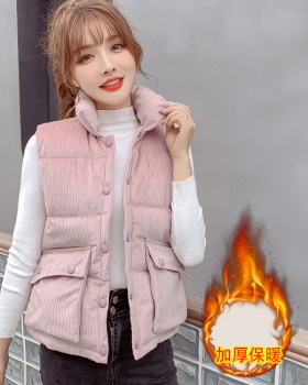 Autumn and winter long vest cotton wears outside coat for women