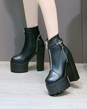 Thick winter martin boots high-heeled high platform