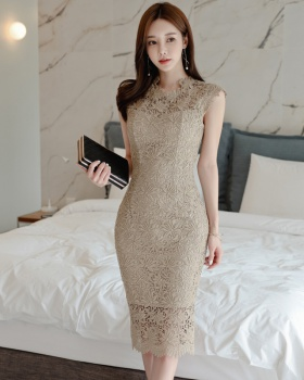 Package hip long Korean style colors slim dress for women