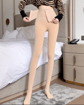 Plus velvet hip raise tights thermal leggings