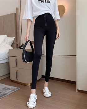 High waist thermal pants plus velvet long pants