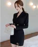 Sexy fashion V-neck autumn and winter slim dress