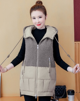 Lamb fur all-match waistcoat autumn and winter coat for women
