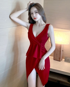 Slim large yard sexy T-back overalls low-cut dress for women