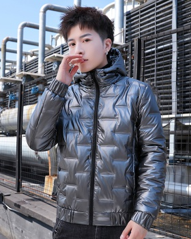 Youth all-match coat Casual thermal cotton coat for men