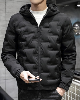 Autumn and winter hooded down coat short light coat for men