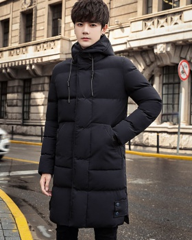 Hooded thick long cotton coat Casual winter coat for men