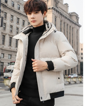 Hooded Korean style cotton coat student coat for men