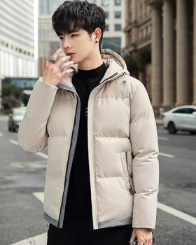 Hooded thermal tops winter thick coat for men