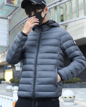 Light white down coat thin Korean style coat for men
