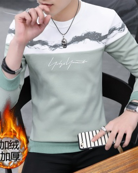 Thick long sleeve hoodie plus velvet sweater for men