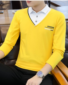Long sleeve Pseudo-two T-shirt for men
