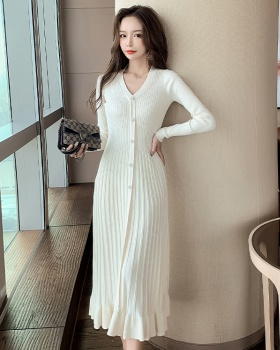 Korean style sweater big skirt dress for women
