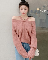 Knitted wear long sweater loose autumn and winter clavicle