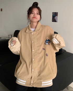 Cubs jacket autumn and winter baseball uniforms for women