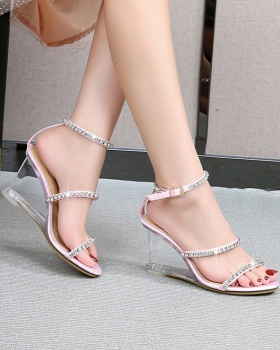 Korean style sandals high-heeled shoes for women